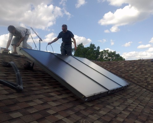 Солнечная система для нагрева воды в Симферополе