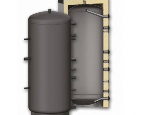 Теплоаккумулятор (буферная емкость в разрезе)